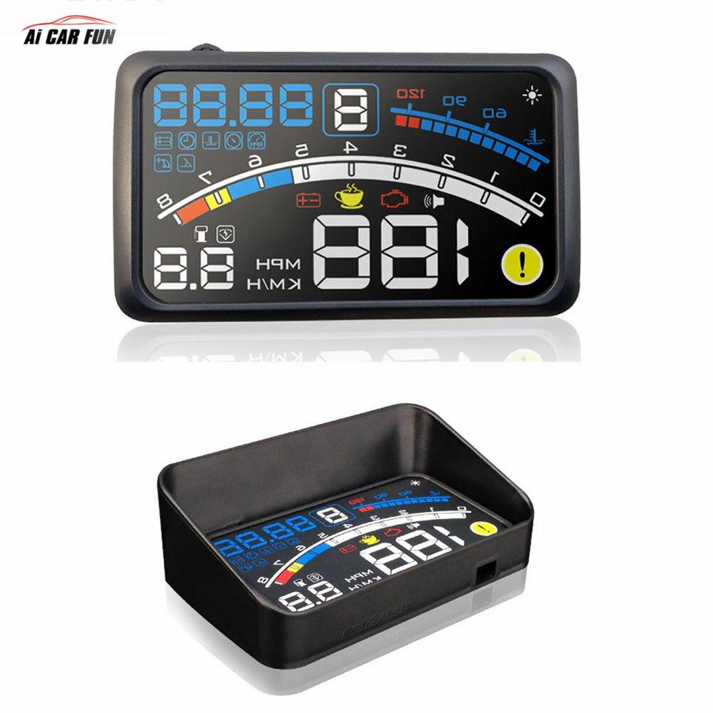 4E 5.5 Voiture OBD2 II EUOBD voiture HUD Head Up Display Survitesse Avertissement Système Projecteur Pare-Brise Auto Électronique Tension alarme