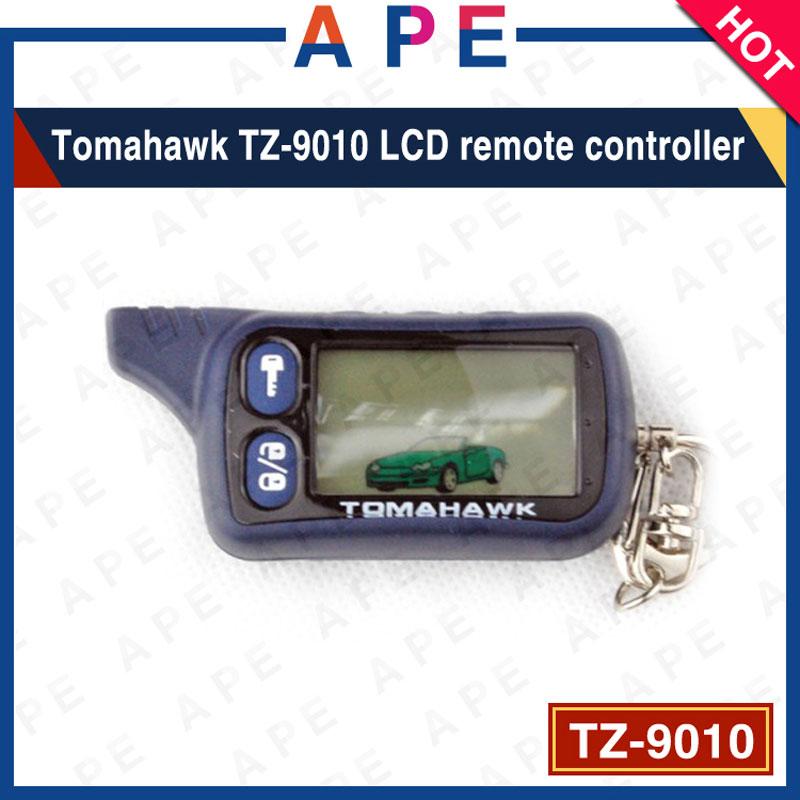 imágenes para 2017 Envío Libre Tomahawk TZ9010 LCD de $ number vías Controlador Remoto Para Auto tz9010 Tomahawk TZ-9010 de alarma A Distancia de Coche Llavero