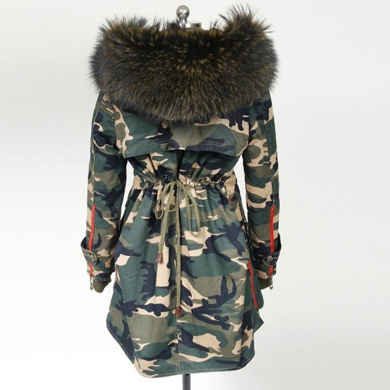 2018 новые модные зимние пальто женские куртки меховой воротник длинные реального большой RaccoonThick меховой подстежкой женская верхняя одежда