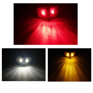 Image 3 - 1 sztuka 24V 0.6W czerwony przyczepy światła LED boczne ciężarówka tylna lampa akcesoria samochodowe samochodów ciężarowych Auto u nas państwo lampy Caravan wskaźnik