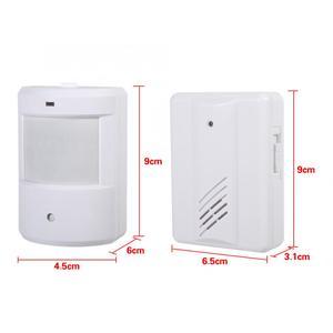Image 5 - PIR Motion Sensor Detector Wireless Door Bell Alert Home Security  System Anti theft Doorbell Alarm for Driveway Patrol Garage