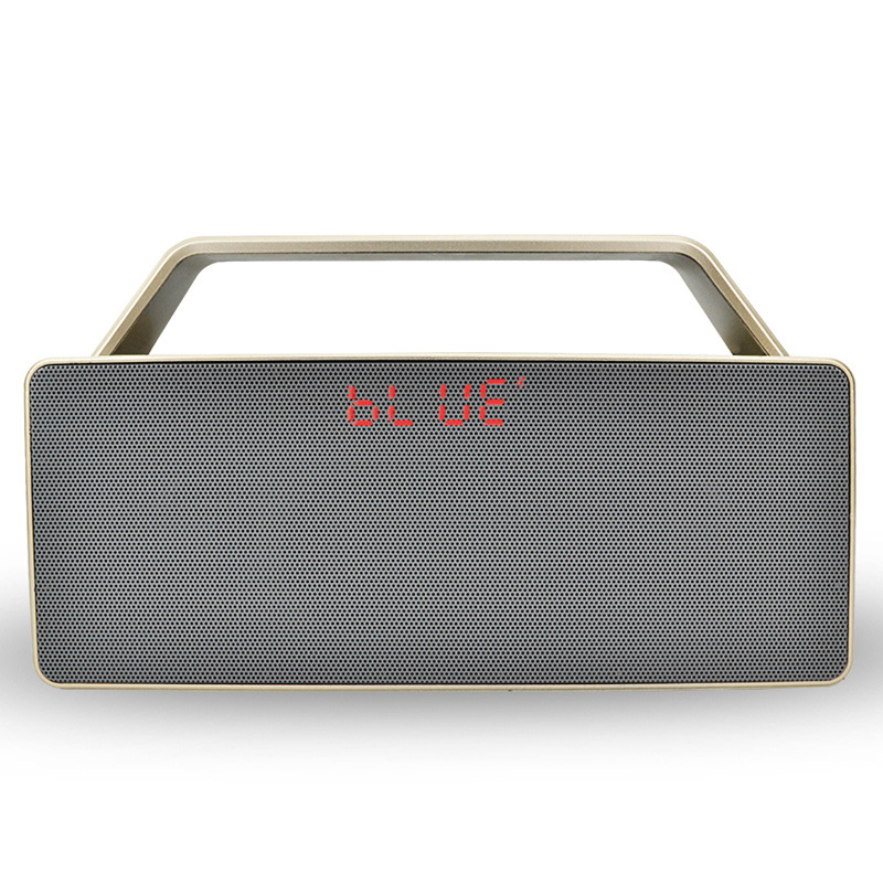 Portable Clock Bluetooth Speaker AUX TF Portable Radio Subwoofer Speakers Enhanced Speaker Wireless Input Support ID Card