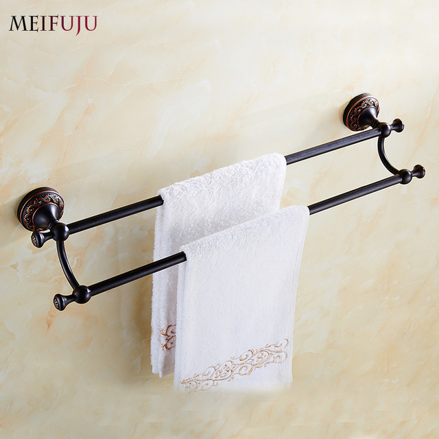 free shipping towel bar towel holder bath products bathroom accessories towel rack towel hanger home decoration - Bathroom Accessories Towel Bars