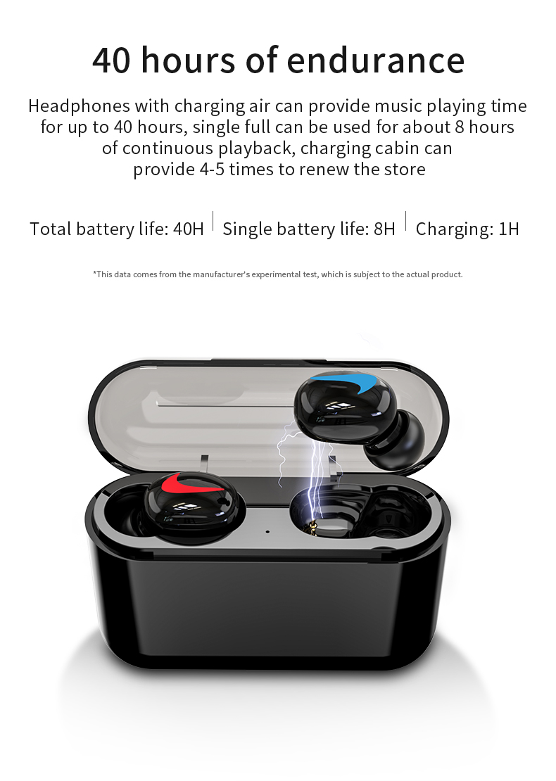Headphones with Charging Case for Long-time Workout Traveling | Cornmi
