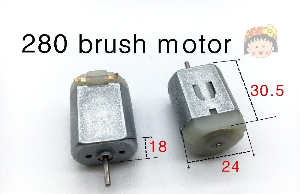 280 bürstenmotor magnetische hohe drehmoment kleine motor 3 v-9 v DIY spielzeug...
