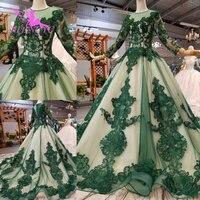 AIJINGYU деревенское свадебное платье длинные платья с рукавами скромный белый корсет Простой роскошный 2018 Настоящее кружевное свадебное плат
