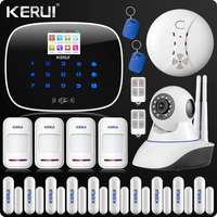 GSM ISO Android App Wireless Home Security Alarm System Wifi IP Camera SMS RFID Autodial Pet