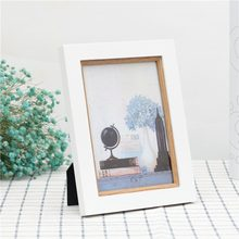 Brand Natural Wood Frame For Canvas Painting Picture Factory Provide DIY Wall Photo Frame Poster Frame desktop decoration(China)
