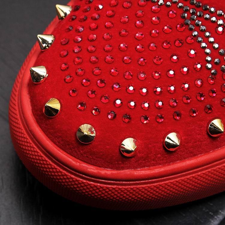 Rivets Charm Fashion Forward Men Casual Comfort Shoes Red Slip On Rhinestone Skull Charm Man Leisure Boast Shoes 38-43 12