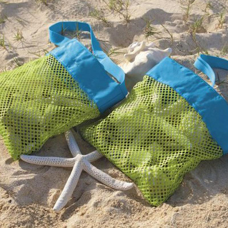 SLPF Kids Baby Sand Away Carry Beach Toys Pouch Tote Mesh Large Children Storage Toy Collection Sand Away Beach Mesh Tool N16 5