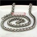 Моды для мужчин звено цепи круглый витой дизайн ожерелье оптовая 55 см 5.5 мм из нержавеющей стали панк бесплатная доставка WN037
