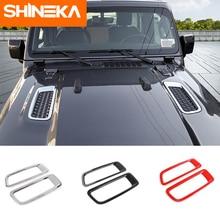 SHINEKA מדבקות לרכב עבור ג יפ רנגלר JL 2018 + רכב מנוע הוד אוויר AC Outlet Vent קישוט כיסוי מדבקה עבור ג יפ רנגלר JL