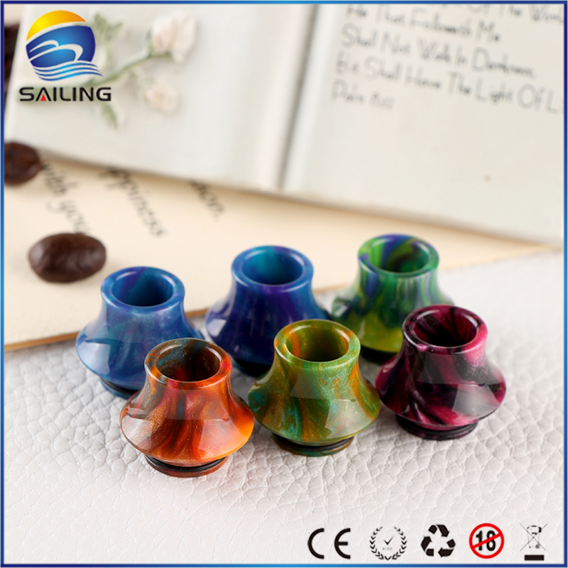 Sailing vape Epoxy resin drip tips mouthpiece wide bore for Griffinn 25 RTA electronic cigarette