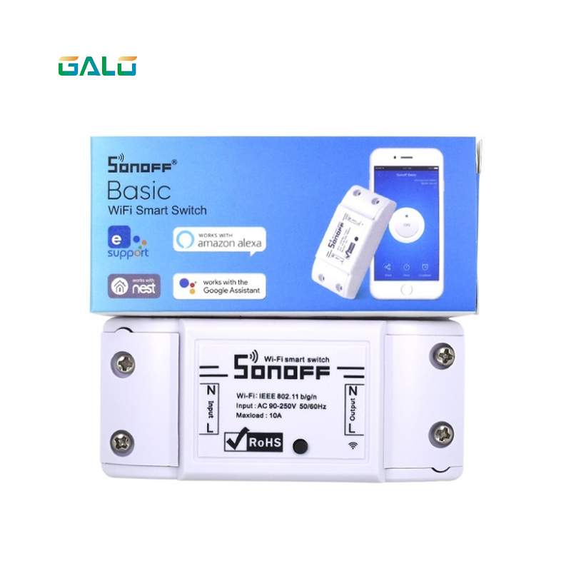 Sonoff Smart WiFi Switch Basic Wireless Home Automation Relay Module Domotica DIY Timer Remote Controller Work with AlexaSonoff Smart WiFi Switch Basic Wireless Home Automation Relay Module Domotica DIY Timer Remote Controller Work with Alexa