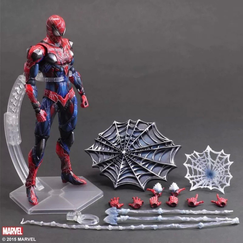 Play Arts 27cm Marvel Spiderman Super Hero Spider Man : Homecoming Action Figure Toys