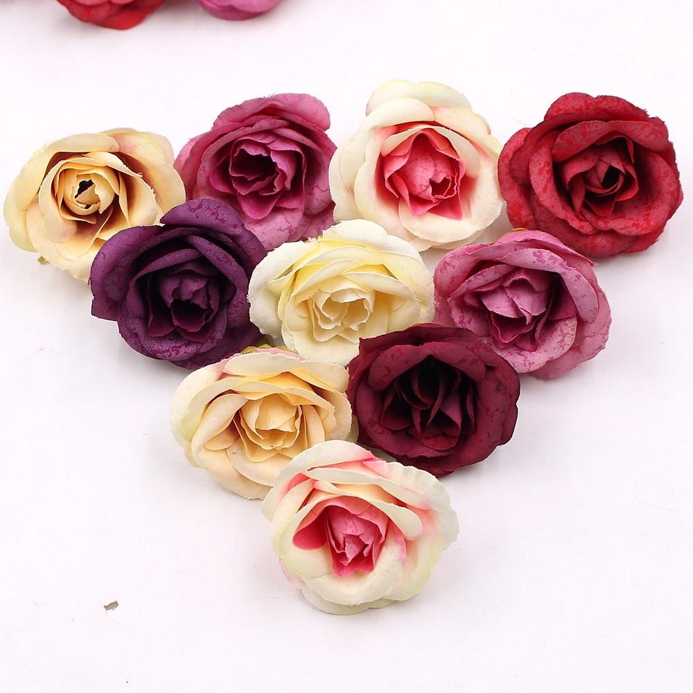 Aliexpress Buy 10pcs 4cm Silk Rose Artificial Flower Wedding