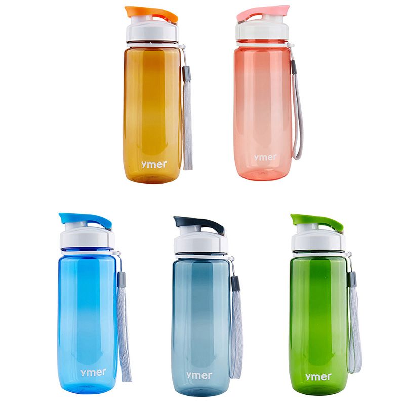 Watter Bottle 560ml/590ml Leak-proof With Rope Drinkware Unbreakable BPA free Plastic Water bottle leak-proof ...