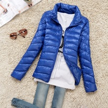 Fashion 2017 girls extremely gentle down jacket winter duck down jackets girls slim skinny lengthy sleeve stand collar parka zipper coats