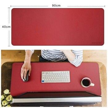 Zoresyn Grande Artificiale In Pelle Mouse Pad 900*400mm Grande Tastiera Zerbino Estesa Scrivania Pad E Zerbino E Per Ufficio, Per La Casa, Di Gioco, Di Scuola