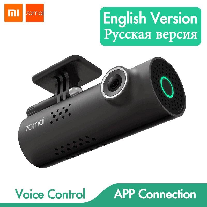 Controle de voz Xiaomi 70mai Câmera Do Carro DVR Full HD 1080P Câmera Do Carro Traço Cam Wifi Night Vision 130 Wide ângulo Gravador De Vídeo Auto