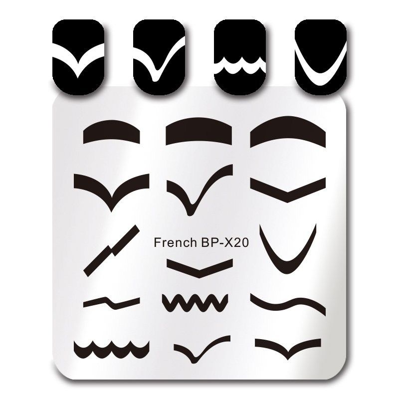 Aliexpress.Com : Buy Born Pretty Square Stamping Template 6*6Cm
