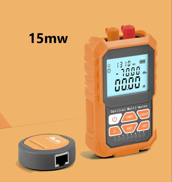 3in1 Optical Power Meter Visual Fault Locator สายเคเบิลเครือข่าย Test optical fiber tester15mw VFL ไฟเบอร์ออปติก Power Meter Ftth เครื่องมือ