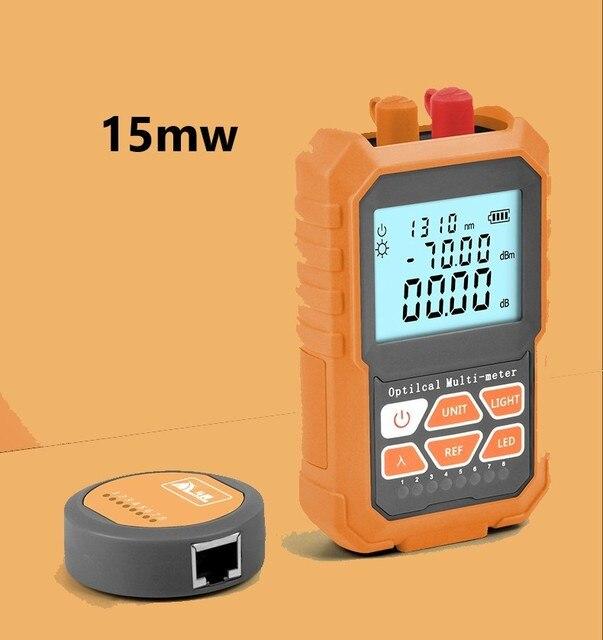 3in1 compteur dénergie optique localisateur de défaut visuel câble de réseau Test de fiber optique tester15mw VFL compteur dénergie à fibers optiques outil Ftth