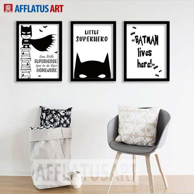 afflatus batman maske leinwand malerei superhero nordic poster wandkunst leinwandbilder. Black Bedroom Furniture Sets. Home Design Ideas