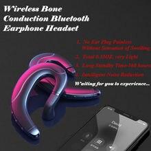 1pcs Wireless Bone Conduction Bluetooth Earphone Headset Ear Hook Waterproof Sports Handfre