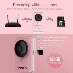 Image 5 - VStarcam WiFi Mini Camera Panoramic Infrared Night Vision Wireless Motion Alarm Video Monitor IP Camera C60S Pink