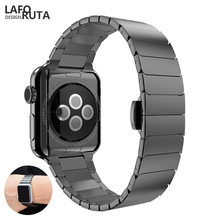 все цены на Lforuta Link Watch Band for Apple Watch Series 4/3/2/1 Stainless Steel Strap Sport Bracelet for iWatch Band 44mm 42mm 38mm 40mm онлайн
