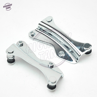1 pair Chrome Docking Hardware 4 FOUR POINT case for Harley Road King Street Glide Harley Touring 2014 2017