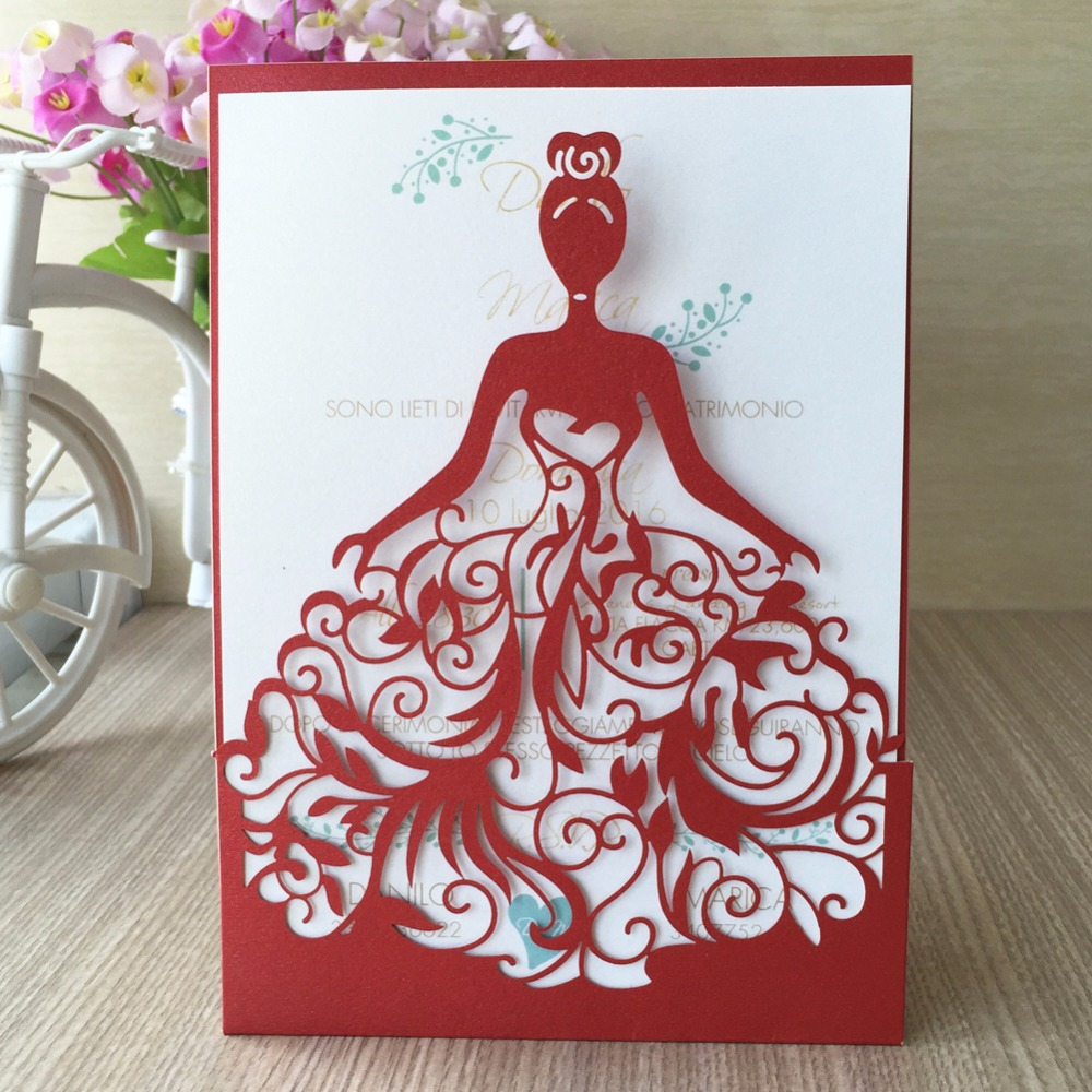 30pcs Laser Cut Wedding Invitations Card Greet Card Personalized ...