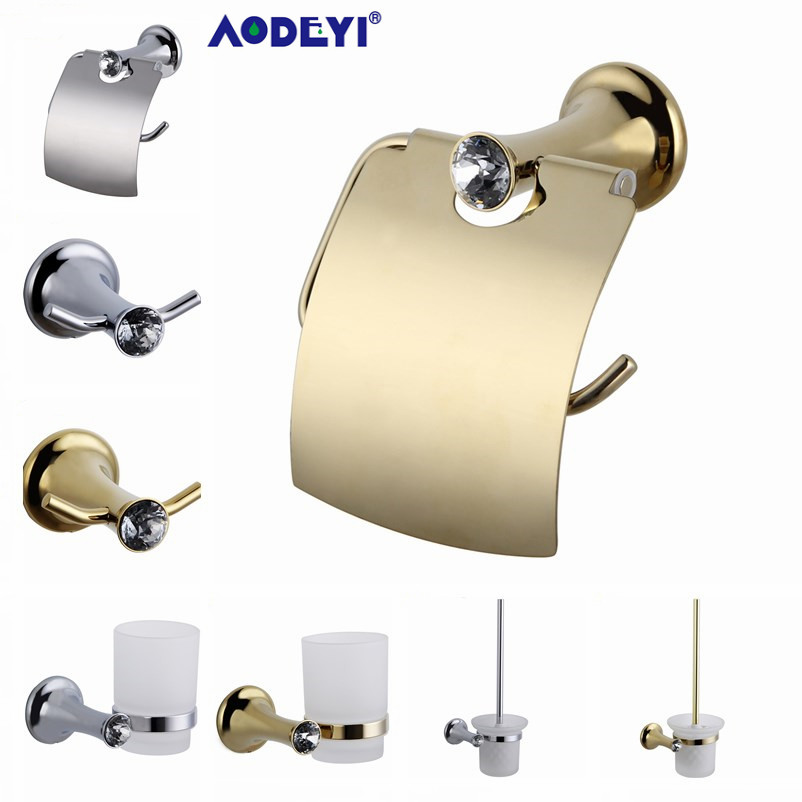 Crystal Bathroom Hardware: AODEYI Bathroom Hardware Set Crystal Robe Hook Paper