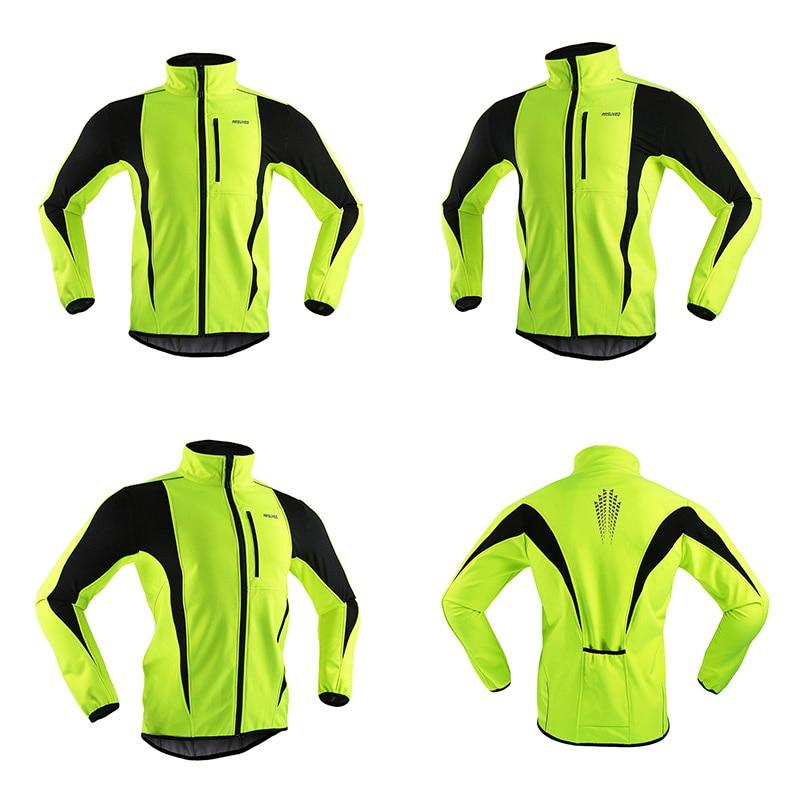 Arsuxeo men inverno ciclismo jaqueta à prova