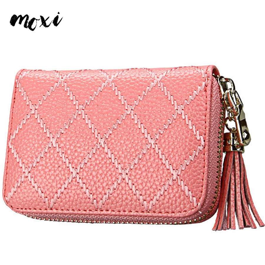 Online buy wholesale business card holder 200 slot from china moxi genuine leather women card holder sweet mini change female wallet 15 card slot laides business magicingreecefo Images