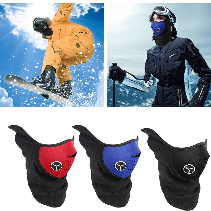 Airsoft Warm Fleece Bike Half Face Mask Cover Face Hood Protection Cycling Ski Sports Outdoor Winter Neck Guard Scarf Warm Mask in Women 39 s Masks from Apparel Accessories