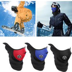 Страйкбол Теплая Флисовая велосипедная полумаска для лица крышка защита для лица Защита для лица Велоспорт Лыжный спорт на открытом