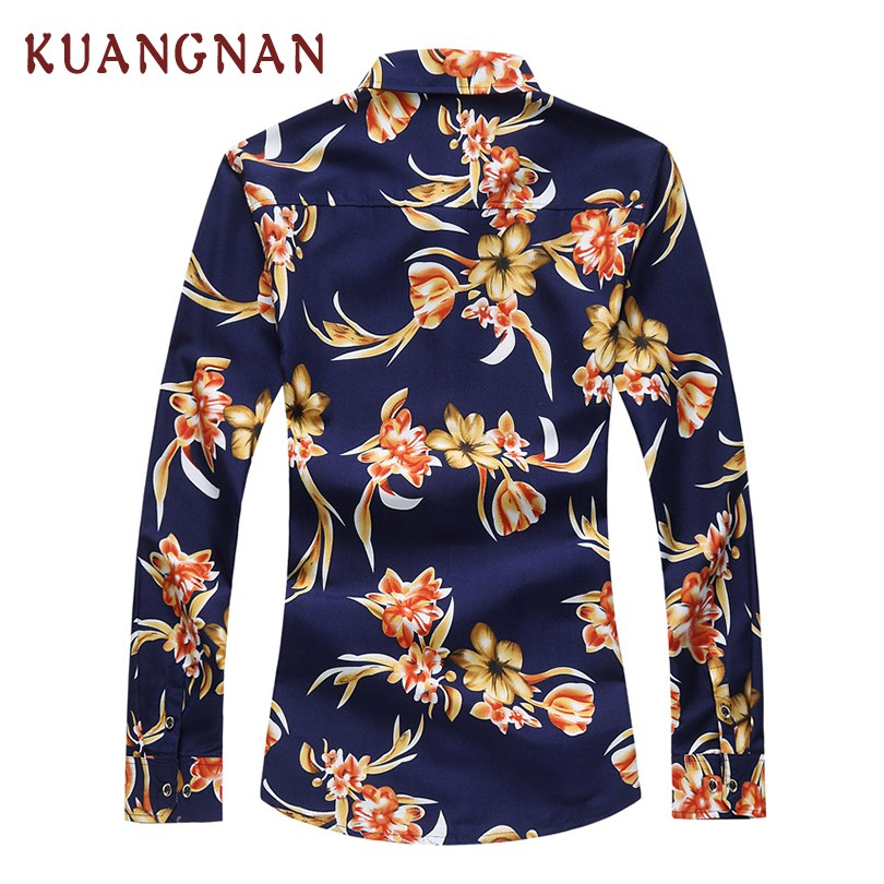 2018 New Floral Casual Shirt Men Camisa Masculina Male Long Sleeve Shirt Chemise Homme Mens Summer Shirts Camisas Social Hombre