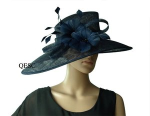 Image 3 - Commercio allingrosso di NEW BIG TESA larga vestito Sinamay cappelli Chiesa, per le gare, Melbourne cup, matrimonio kentucky derby. TRASPORTO LIBERO