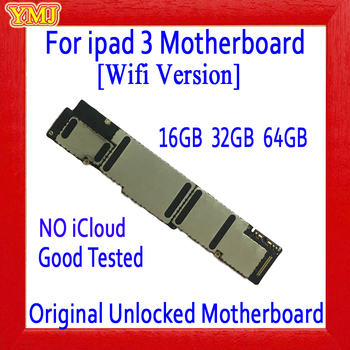 16GB / 32GB / 64GB Original unlocked for ipad 3 Motherboard with Full Chips,Wifi Version for ipad 3 Mainboard,Free Shipping