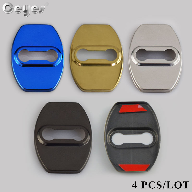 Ceyes Car Styling For <font><b>Lexus</b></font> ES IS GS LS NX LX GX RX LF-A RC Car Accessories Interior Door Lock Protective And Decoration Covers image
