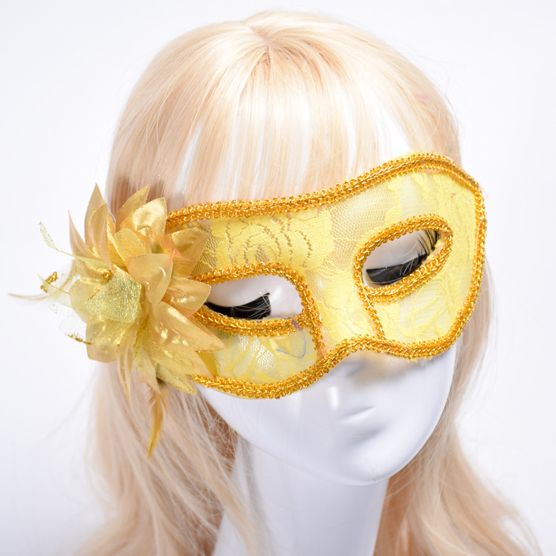 La Semana Santa Carnival Hip-hop Woman Masks Adult Stage performance play Costume Purim Masked ball Masquerade Cosplay Masks