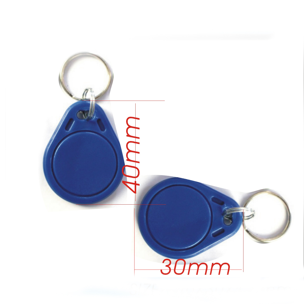 Image 5 - 10pcs/lot RFID hotel key fobs 125KHz rewritable keychain  and rewritable proximity ABS tags for RFID copier-in IC/ID Card from Security & Protection