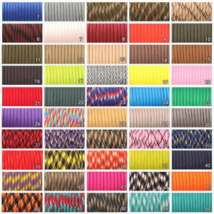 Image 2 - CAMPINGSKY 550 Paracord Parachute Cord Lanyard Tent Rope Mil Spec Type III 7 Strand 100FT Paracord For Hiking Camping 200 Colors