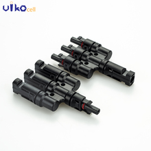 1 Pairs MC4 Connector T Branch For Solar Panel Cable System