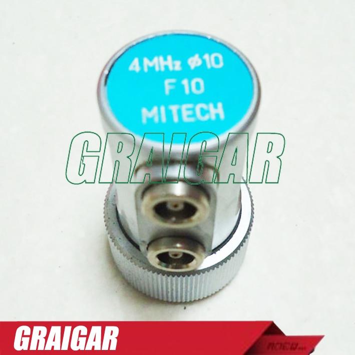 MITECH 4MHz 10mm Dual Straight Beam Probe F10 Transducer for MFD350B,MFD500B,MFD620C,MFD650C,MFD800C Ultrasonic Flaw Detector  цены