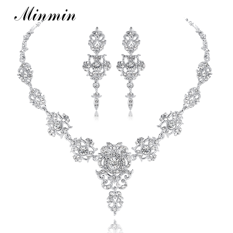 Minmin Classic Crystal Bridal Jewelry Ses