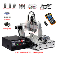 mini cnc engraving milling machine 4030 4axis 1.5KW spindle USB port ER11 cnc router 3040 with limit switch