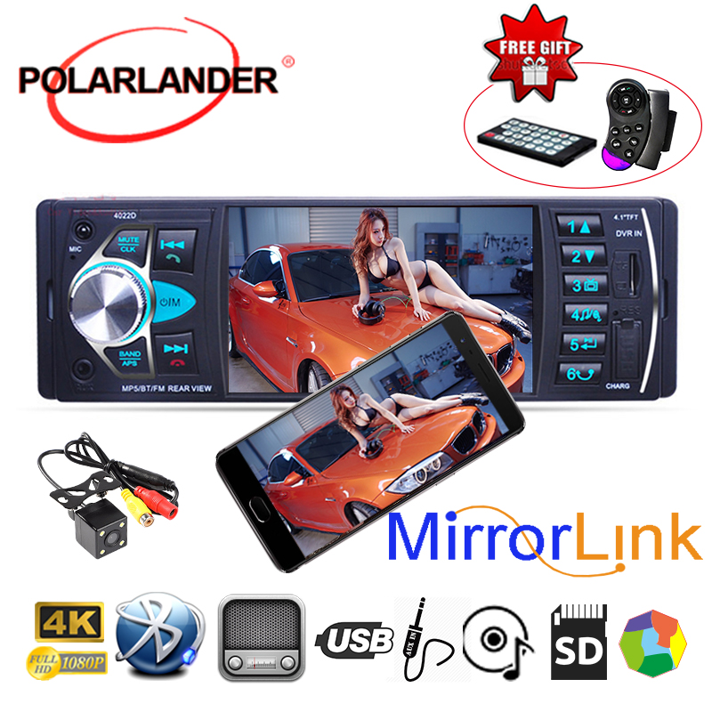 ミラーリンク Autoradio Bluetooth カーポータブルラジオプレーヤー 4.1 インチフル視野角 MP5/FM トランスミッタラジオカセットプレーヤー  グループ上の 自動車 &バイク からの 車 ラジオ の中 1